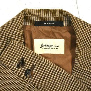 38R Baldessarini Cotton Brown Striped BLAZER